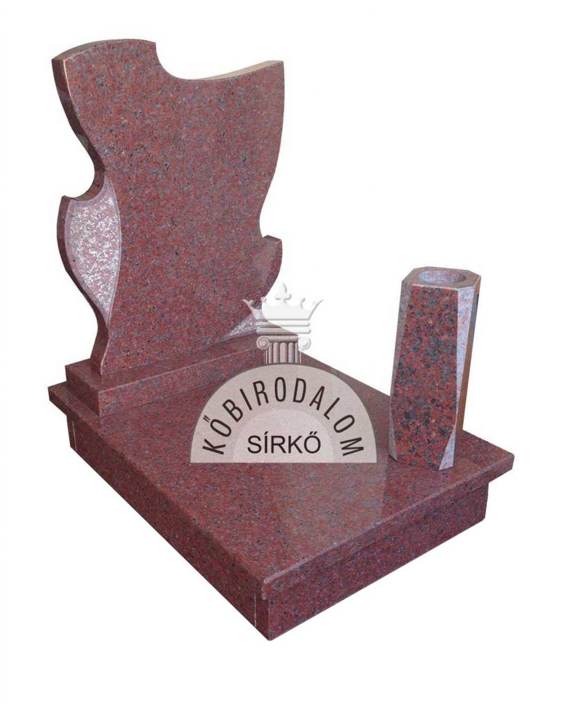Africa Red urna gránit sírkő KőBirodalom