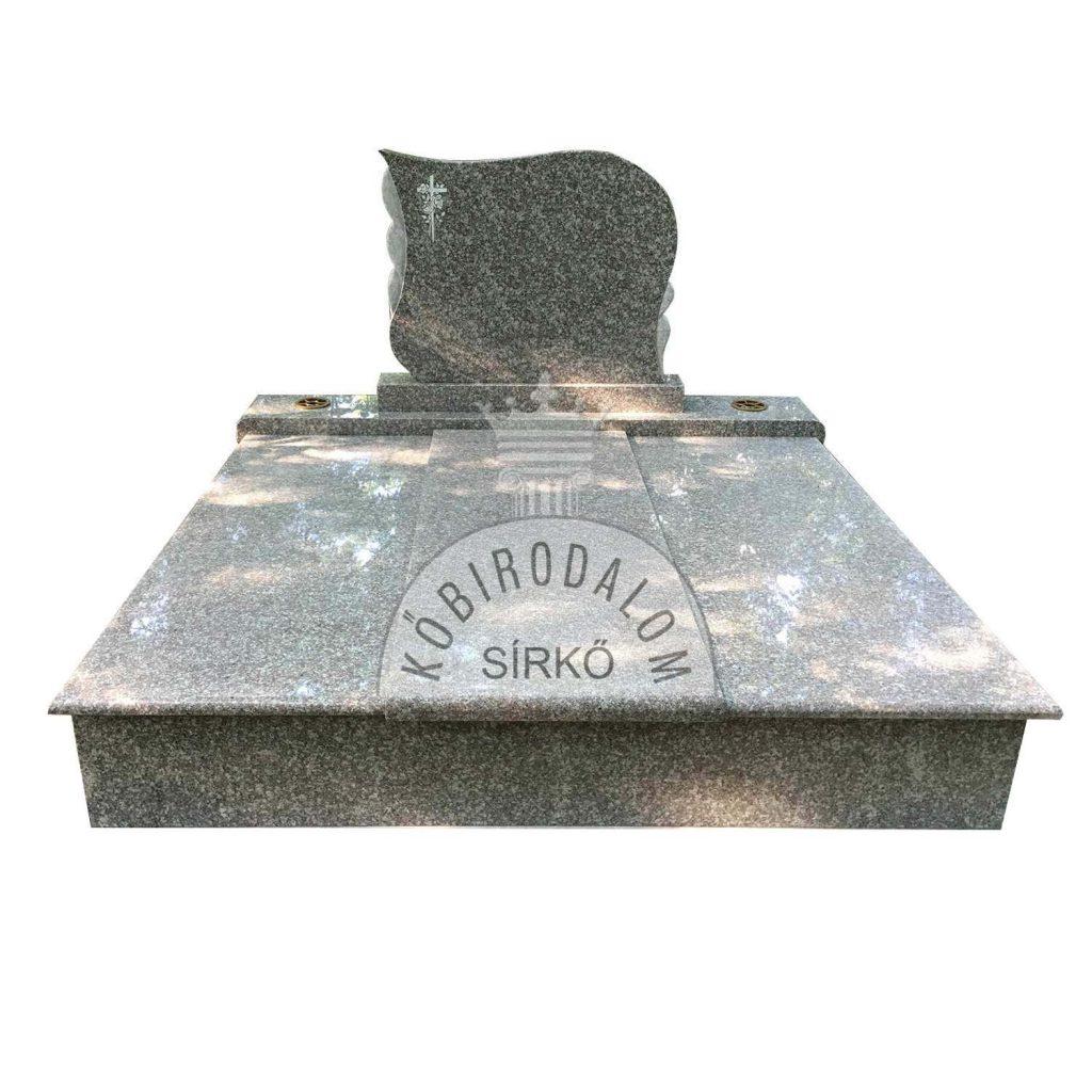 Brown Star dupla gránit sírkő