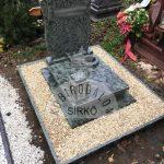 Olive Green urna gránit sírkő