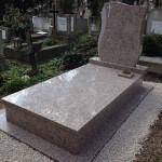 Rosa Porrinho szimpla gránit sírkő