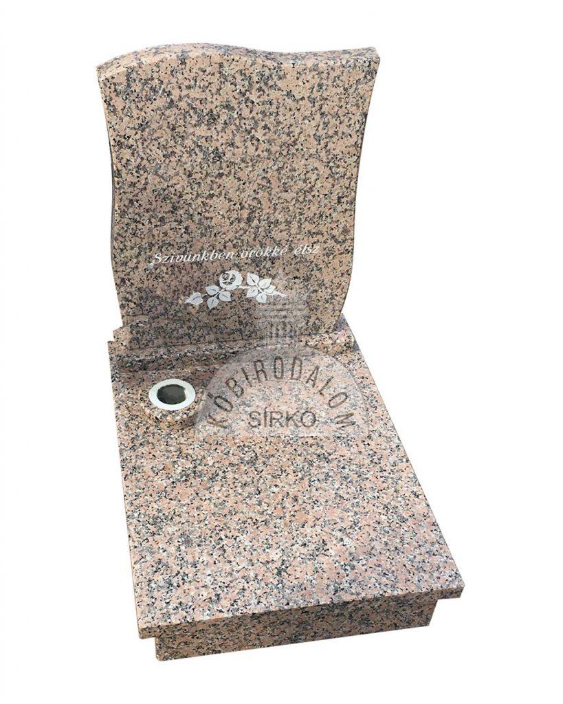 Rosa Porrino urna gránit sírkő 1