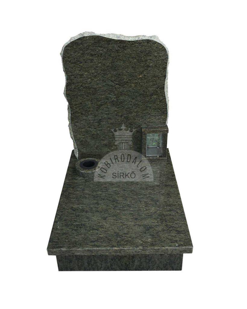 Verde Bahia gránit urna sírkő