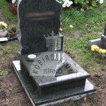 Verde Bahia urna gránit sírkő