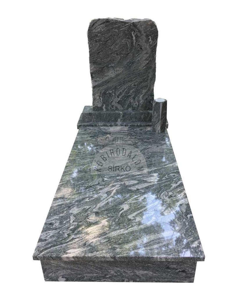 Verde Marina szimpla gránit sírkő