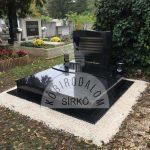 Zimbabwe dupla gránit sírkő