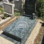 Olive Green szimpla gránit sírkő