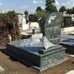 Olive Green szimpla gránit sírkő 4