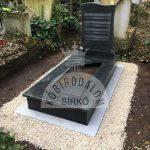 Kobra szimpla gránit sírkő 1