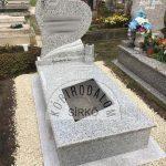 Mounten Pink szimpla gránit sírkő 2