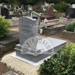 Tarn szimpla gránit sírkő 1