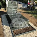 Verde San Francisco szimpla gránit sírkő 1