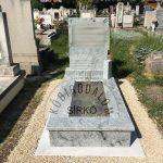 Wiscount White szimpla gránit sírkő