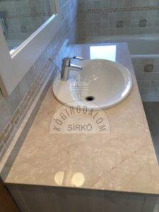 Botticino márvány fürdőszobapult