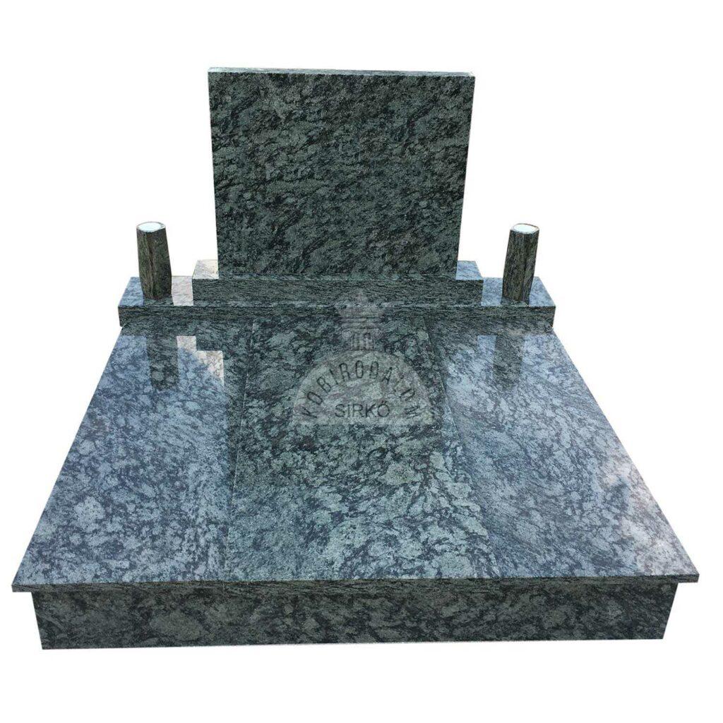 Olive Green gránit dupla sírkő