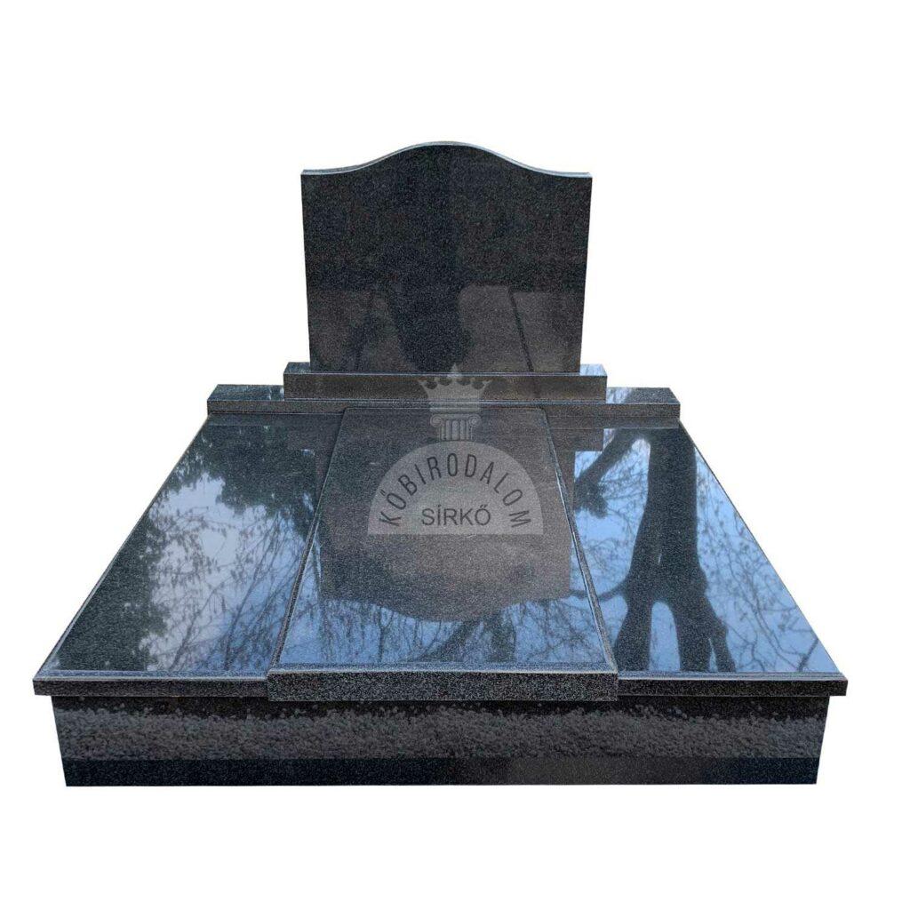 Royal Black gránit dupla sírkő