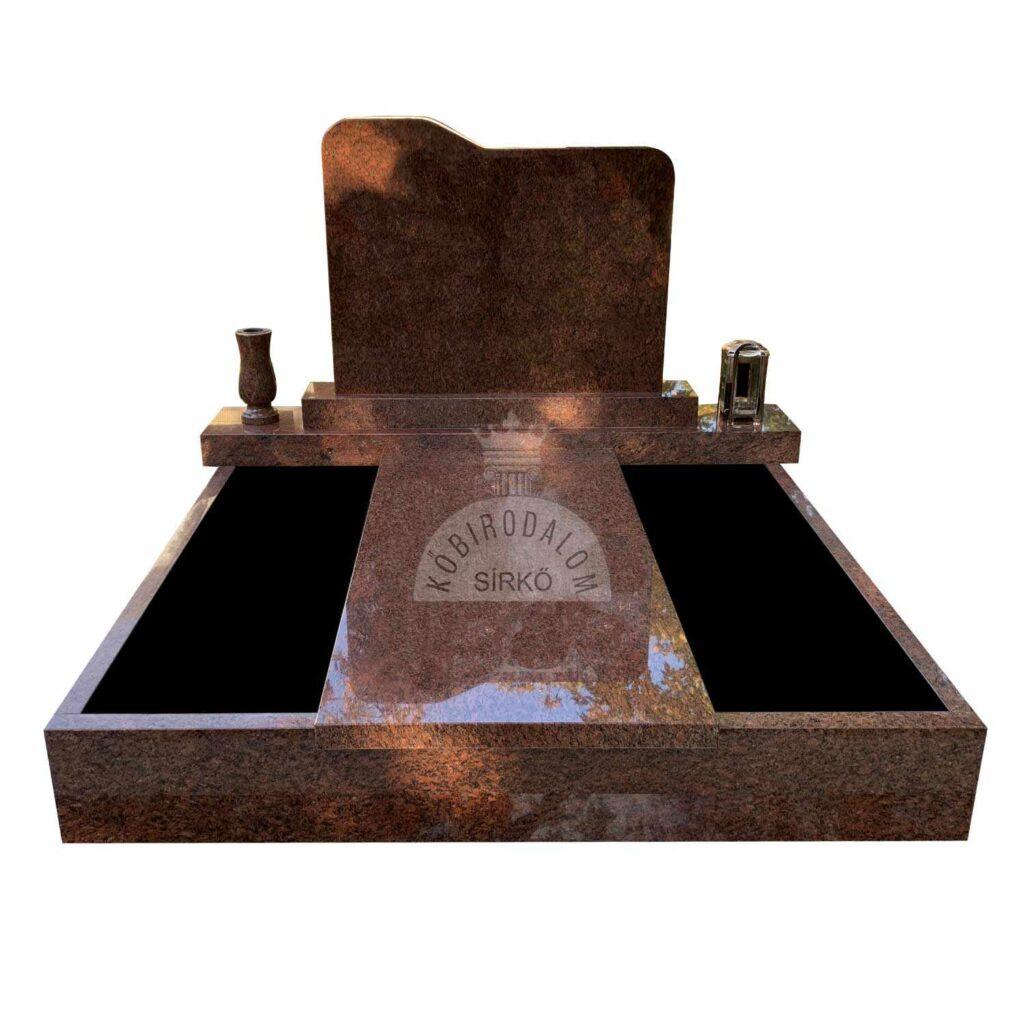 Vanga gránit dupla sírkő