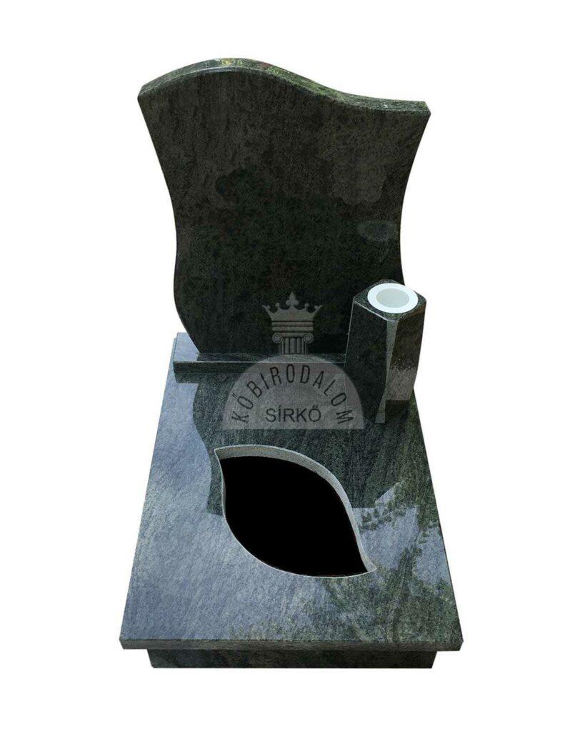 Verde San Francisco gránit urna sírkő