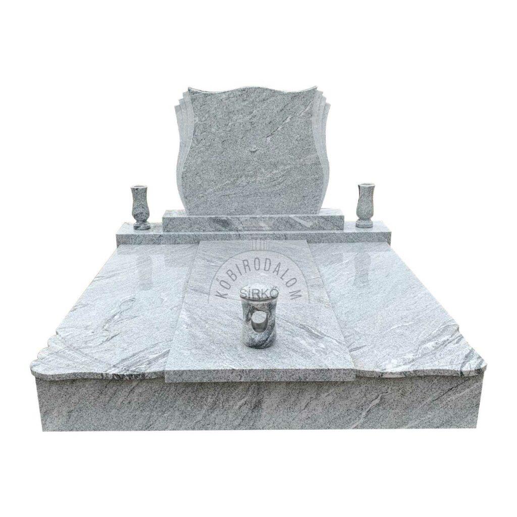 WiscountWhite gránit dupla sírkő