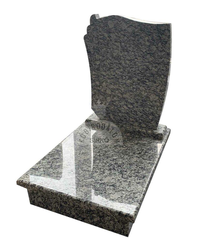 Wave White gránit urna sírkő
